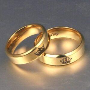 טבעת גולדפילד עם כתר לנישואין לאישה