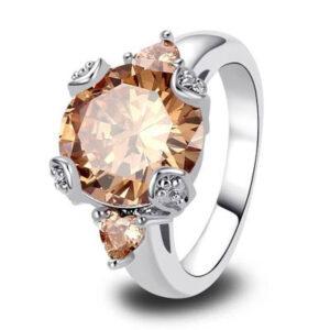 טבעת כסף 925 לנישואין דגם 4115