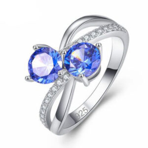 טבעת כסף 925 לנישואין דגם 4107