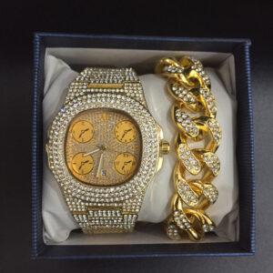 סט שעון, צמיד, שרשרת וטבעת גולדפילד