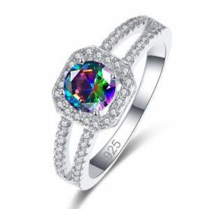 טבעת כסף 925 לנישואין דגם 4136 לאישה