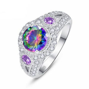 טבעת כסף 925 לנישואין דגם 4135 לאישה