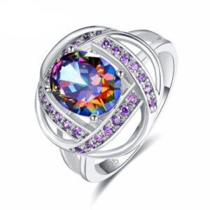 טבעת כסף 925 לנישואין דגם 4134