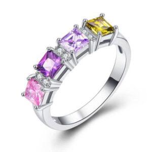 טבעת כסף 925 לנישואין דגם 4129