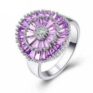 טבעת כסף 925 לנישואין דגם 4126