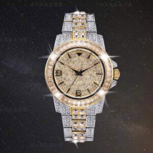 שעון משובץ יהלומי קריסטל דגם 2153