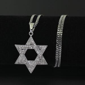 שרשרת יהודי סטיינלס סטיל דגם 0212
