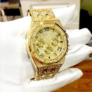שעון משובץ יהלומי קריסטל דגם 2152