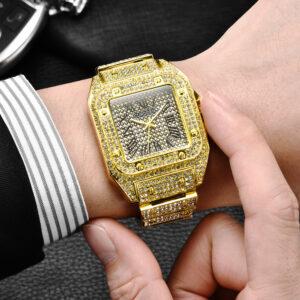 שעון משובץ יהלומי קריסטל דגם 2154