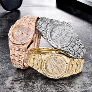 שעון משובץ יהלומי קריסטל דגם 2150