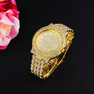 שעון משובץ יהלומי קריסטל דגם 2155