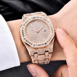 שעון משובץ יהלומי קריסטל דגם 2151