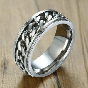 טבעת סטיינלס סטיל דגם 0211 לגבר