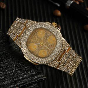 שעון קובני יוקרתי ויהלומי קריסטל