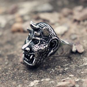 טבעת גוגולת סטיינלס סטיל דגם 0311