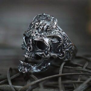 טבעת גוגולת סטיינלס סטיל דגם 0316