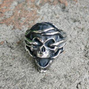 טבעת גוגולת סטיינלס סטיל דגם 0312