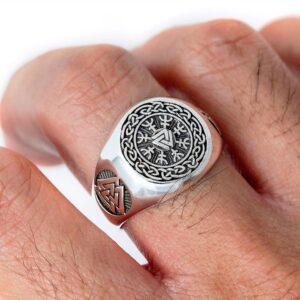 טבעת וייקינג סטיינלס סטיל דגם 0296
