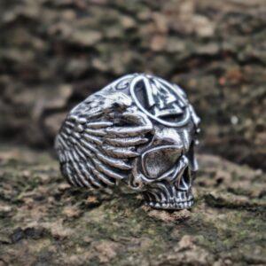 טבעת גוגולת סטיינלס סטיל דגם 0318