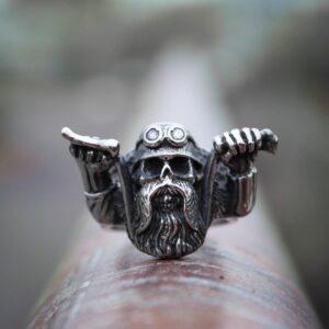 טבעת גוגולת סטיינלס סטיל דגם 0314