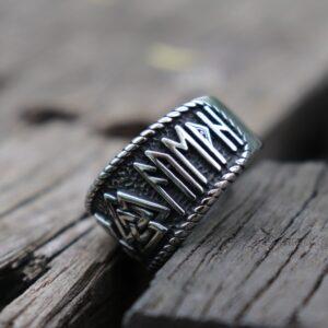 טבעת וייקינג סטיינלס סטיל דגם 0293