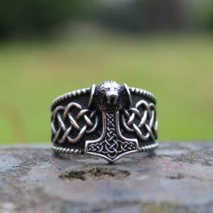 טבעת וייקינג סטיינלס סטיל דגם 0294