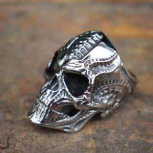 טבעת גוגולת סטיינלס סטיל דגם 0322