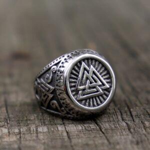 טבעת וייקינג סטיינלס סטיל דגם 0291
