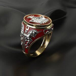 טבעת סטיינלס סטיל דגם 287 לגבר