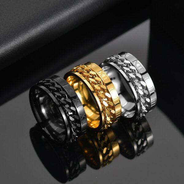 טבעת מעוצבת לגבר דגם 542
