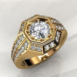 טבעת מעוצבת לגבר דגם 299