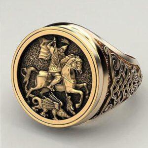 טבעת מעוצבת לגבר דגם 304
