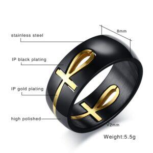 טבעת מעוצבת לגבר דגם 296