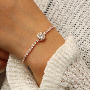 צמיד טניס יהלומים לאישה דגם 929