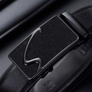 חגורה מעור ואבזם אוטומטי לגבר דגם 306