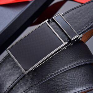 חגורה מעור ואבזם אוטומטי לגבר דגם 304